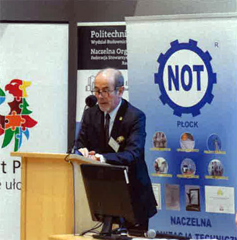 Przywitanie uczestników przezMarka Karpińskiego Prezesa Rady NOT FSNT wPłocku